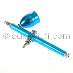 View the TEAL spare airbrush pen - 0.5 needle with 17cc lidded cup online at Cake Stuff