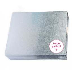 """View the 10"""" x 8"""" (5 pack) oblong thick cake boards / drums online at Cake Stuff"""