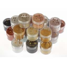 View the FULL SET all 26 x 20ml pots luxury edible lustre dust icing colours - BUNDLE online at Cake Stuff