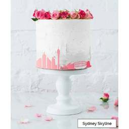 View the SYDNEY City Skyline cake icing border stencil online at Cake Stuff