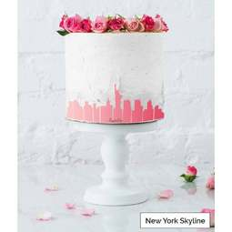 View the NEW YORK City Skyline cake icing border stencil online at Cake Stuff