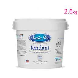 View the 2.5kg / 5½lb WHITE sugarpaste rolled fondant icing online at Cake Stuff