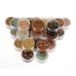 View the FULL SET all 26 x 10ml pots luxury edible lustre dust icing colours - BUNDLE online at Cake Stuff