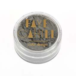 View the FLASH SILVER 10ml luxury edible lustre dust icing colour online at Cake Stuff