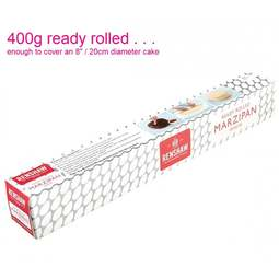 View the 400g ready rolled white almond paste marzipan online at Cake Stuff
