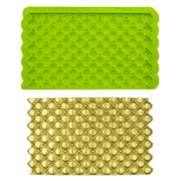 View the TUFTED SWISS DOTS Simpress silicone sugarcraft icing mould online at Cake Stuff