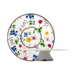 View the WHITE CONTESSA porcelain 30cm pedestal cake stand online at Cake Stuff