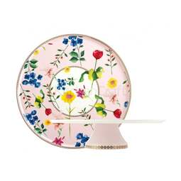 View the ROSE CONTESSA porcelain 30cm pedestal cake stand online at Cake Stuff
