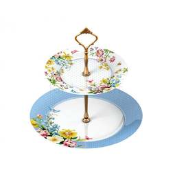 View the ENGLISH GARDEN 2 tier porcelain cake stand online at Cake Stuff