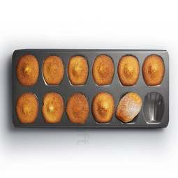 View the 12 hole Madeleine baking cake pan online at Cake Stuff