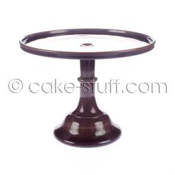"View the 10"" milk glass cake pedestal stand - Eggplant Purple online at Cake Stuff"