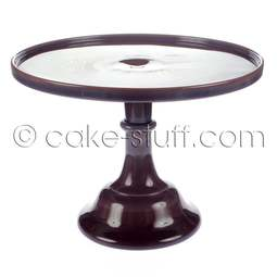 "View the 12"" milk glass cake pedestal stand - Eggplant Purple online at Cake Stuff"