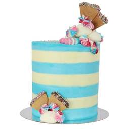 View the tall patterned edge side icing scraper tool - EXTRA WIDE STRIPES online at Cake Stuff