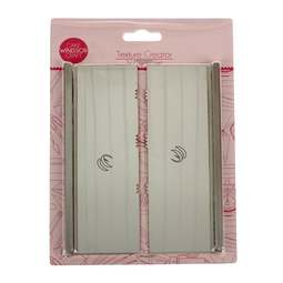 View the **CLEARANCE** 2 pc Texture Creator icing scraper / smoother set - Tri Comb online at Cake Stuff