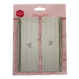 View the **CLEARANCE** 2 pc Texture Creator icing scraper / smoother set - Comb & Centre Curve online at Cake Stuff