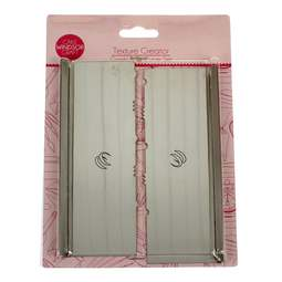 View the **CLEARANCE** 2 pc Texture Creator icing scraper / smoother set - Comb & Tri Curve online at Cake Stuff