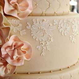 View the Alencon Lace Border professional cake stencil #1 online at Cake Stuff