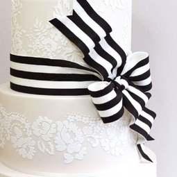 View the Alencon Lace Scallop Shortened professional cake stencil #2 online at Cake Stuff
