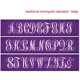 View the Traditional Monogram Large Alphabet mesh cake stencil set #33 - 57mm letters online at Cake Stuff
