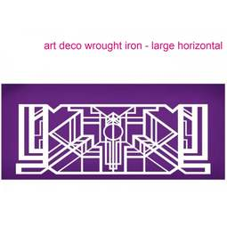 View the Art Deco Wrought Iron Horizontal (large) mesh cake stencil #27 online at Cake Stuff