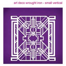 View the Art Deco Wrought Iron Vertical (small) mesh cake stencil #25 online at Cake Stuff