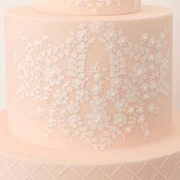 View the Bodice Lace Cropped professional cake stencil #23 online at Cake Stuff