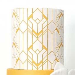 View the Art Deco Geometric professional cake stencil #19 online at Cake Stuff