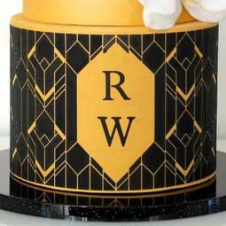 View the Art Deco Geometric Mix & Match Monogram cake stencil set #20 online at Cake Stuff