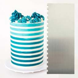 View the ¼ inch Two Tone Stripe contour comb icing ganache smoother online at Cake Stuff