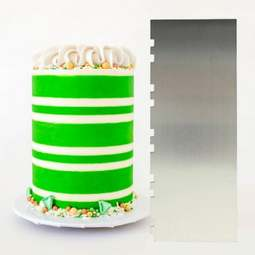 View the ALTERNATING Two Tone Stripe contour comb icing ganache smoother online at Cake Stuff