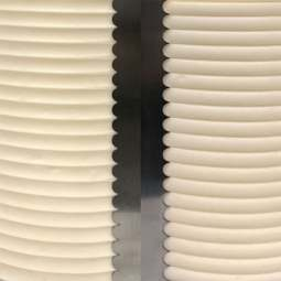 View the SCALLOPED SMALL double sided contour comb icing ganache smoother online at Cake Stuff