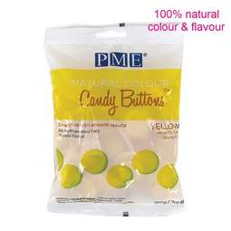 View the Natural Colour Yellow Candy Buttons Melts chocolate 200g online at Cake Stuff
