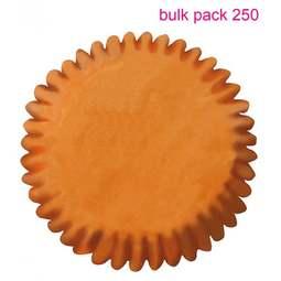 View the Bulk Pack 250 ORANGE cupcake baking cases online at Cake Stuff