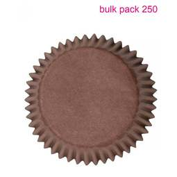 View the Bulk Pack 250 BROWN cupcake baking cases online at Cake Stuff