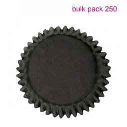 View the Bulk Pack 250 BLACK cupcake baking cases online at Cake Stuff