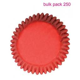 View the Bulk Pack 250 RED cupcake baking cases online at Cake Stuff