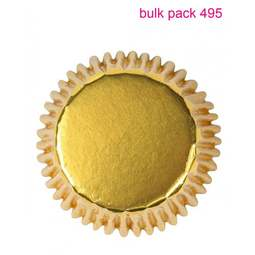 View the bulk pack 495 GOLD FOIL cupcake baking cases online at Cake Stuff