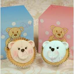 View the CUPCAKE TEDDY FACE silicone icing mould online at Cake Stuff