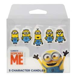View the pk 5 MINIONS Despicable Me cake candle picks online at Cake Stuff