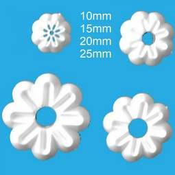 View the 4 pc small Daisy flower icing cutter set - DY5-8 online at Cake Stuff