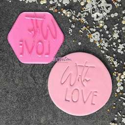 View the WITH LOVE cookie & icing stamp online at Cake Stuff