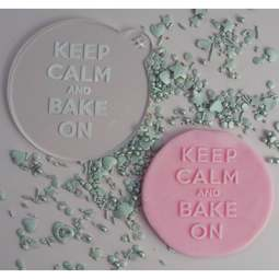View the KEEP CALM AND BAKE ON cookie & icing embosser  online at Cake Stuff