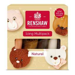 View the 5 NATURALS COLOUR multipack Regalice Decor-Ice sugarpaste ready to roll icing online at Cake Stuff