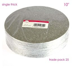 """View the 10"""" (25 pack) round single thick cake cards online at Cake Stuff"""
