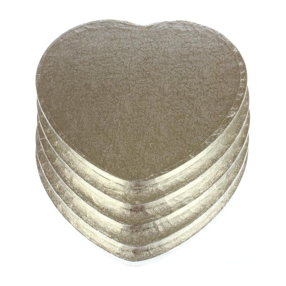 "View the 10"" (5 pack) heart cake boards / drums online at Cake Stuff"