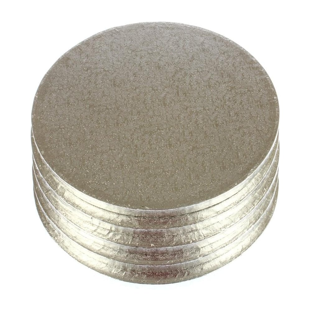 "View the 10"" (5 pack) round thick cake boards / drums online at Cake Stuff"