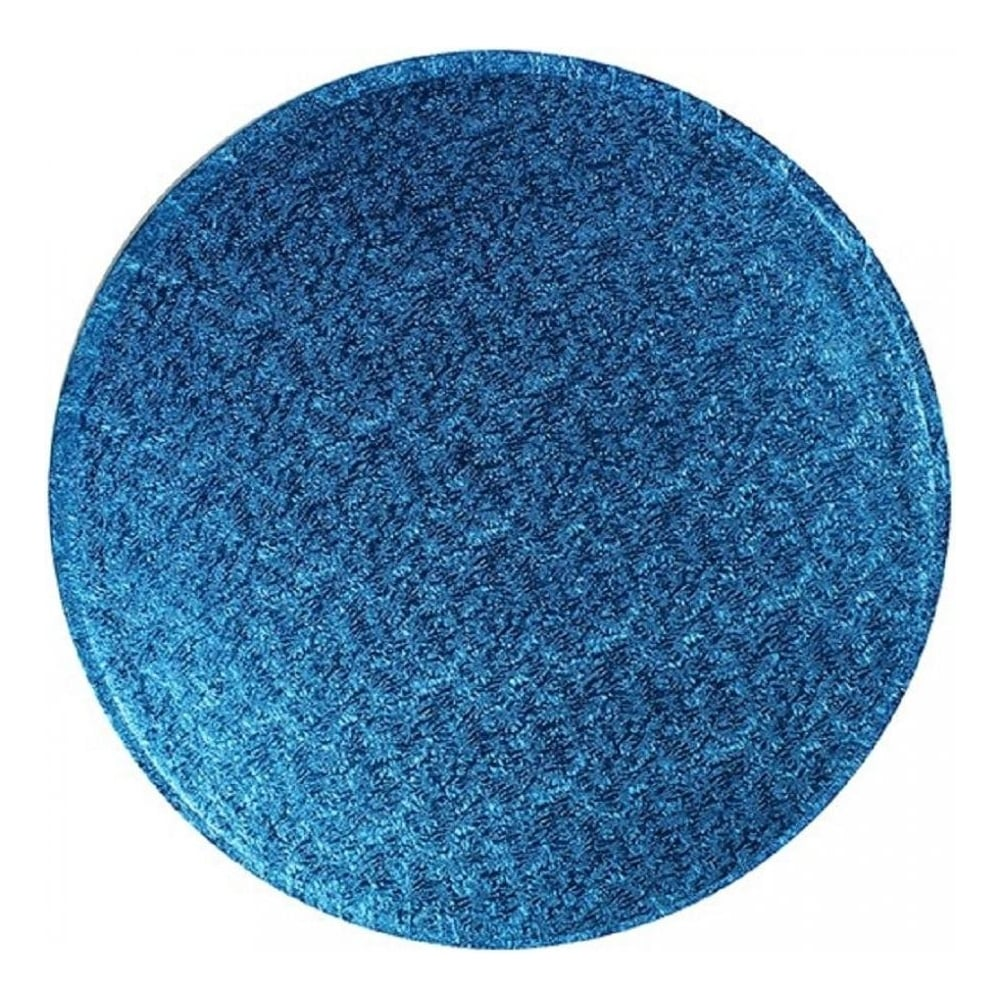 "View the 10"" DARK BLUE round thick cake board / drum online at Cake Stuff"