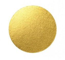 "View the 12"" GOLD round thick cake board / drum online at Cake Stuff"