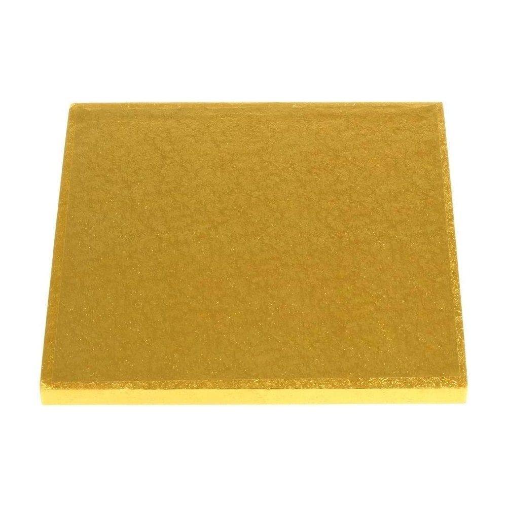 "View the 12"" GOLD square thick cake board / drum online at Cake Stuff"