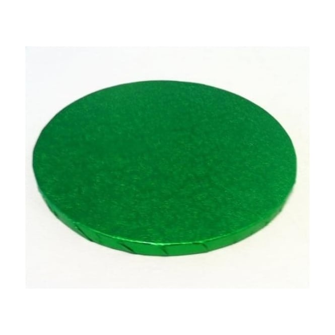 "View the 12"" GRASS GREEN round thick cake board / drum online at Cake Stuff"